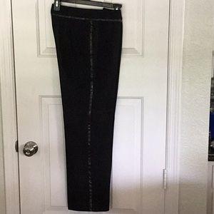 Newport News dress slacks with leather strip